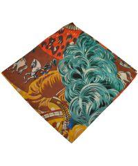 Женский платок 26407 карнавал оранжевый
