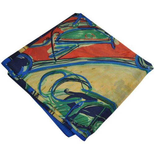 Женский платок 26410 карета синий