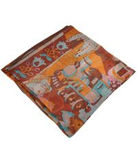 Женский платок H 25410 сказка коричневый