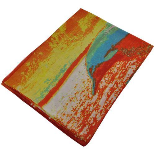 Шелковый шарф парео 29155 дельфин оранжевый