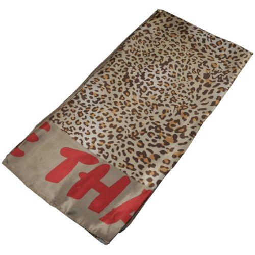 Женский платок Moschino 25154 леопард бежевый