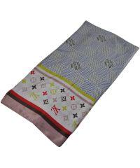 Женский платок Louis Vuitton 25247 белый