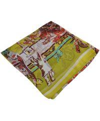Женский платок Hermes 25422 племя желтый