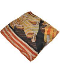 Женский платок Hermes 25406 оракул коричневый