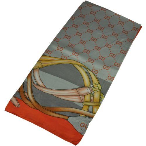 Женский платок Gucci 25254 серый