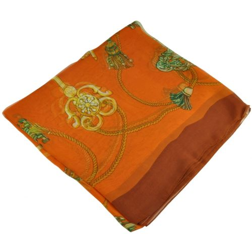 Женский платок 25318 ключи оранжевый