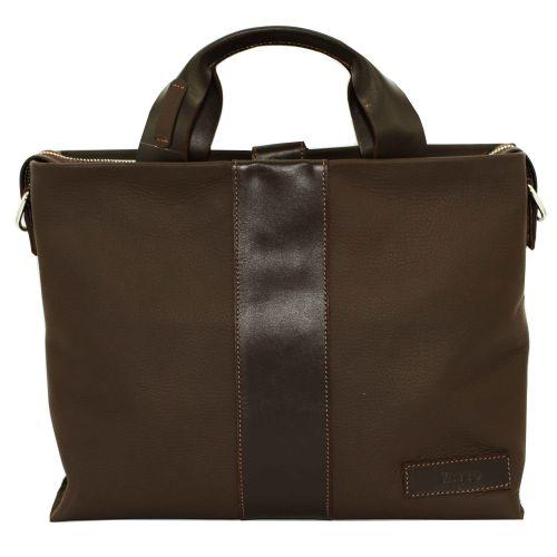 Мужской кожаный портфель Mk-34/1 FL7Kаz400 коричневый