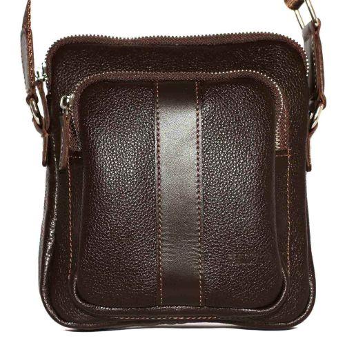 Мужская кожаная сумка Mk-48FL3Kаz400 коричневая