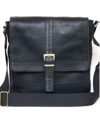 Мужская кожаная сумка Mk17Kr670 чёрная