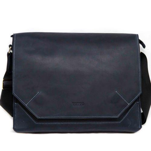 Мужской кожаный портфель MK21Kr600 синий