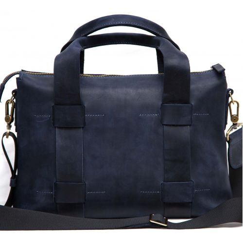 Мужской кожаный портфель MK23Kr600 синий