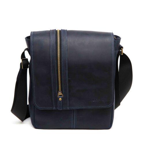 Мужская кожаная сумка MK28Kr600 синяя