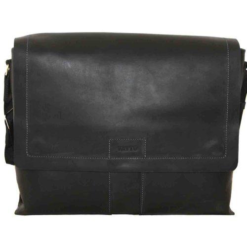 Мужской кожаный портфель MК-34Kr670 чёрный