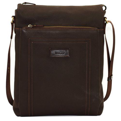 Мужская кожаная сумка Mk-41FL7Kаz400 коричневая