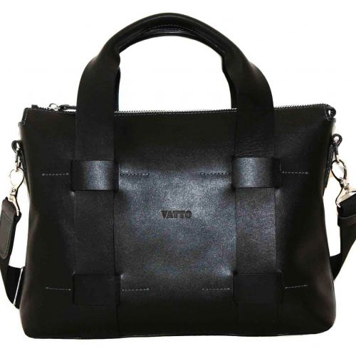 Мужской кожаный портфель MK22Kaz1 чёрный