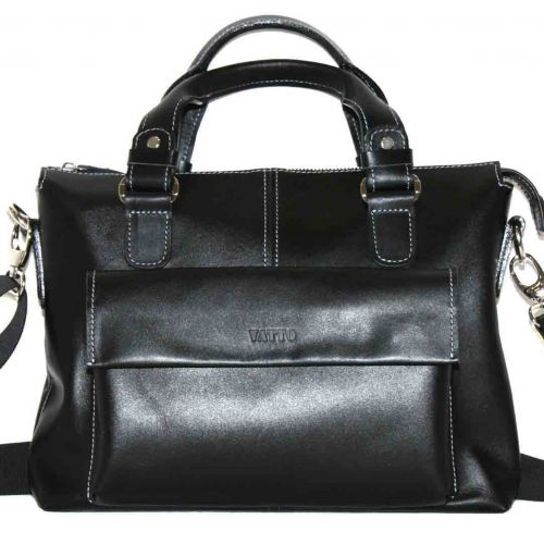 Мужской кожаный портфель MK20Kaz1 чёрный