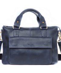 Мужской кожаный портфель Mk20Kr600 синий