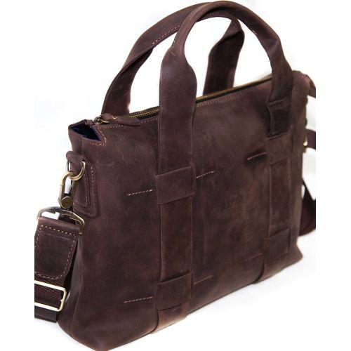 Мужской кожаный портфель Mk22Кr450 коричневый