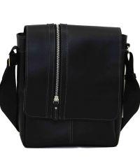 Мужская кожаная сумка MK28Кaz1 чёрная