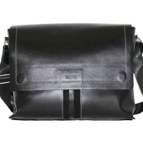 Мужской кожаный портфель MK34Кaz1Z1 чёрный