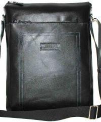 Мужская кожаная сумка Mк41Кaz1 чёрная