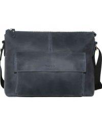 Мужской кожаный портфель MK20/1Kr600 синий