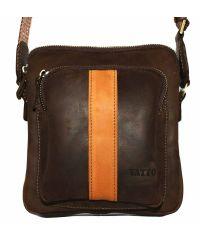 Мужская кожаная сумка Mk-48 Kr450.190 коричневая