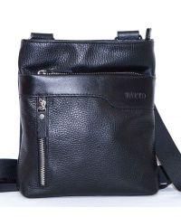 Мужская кожаная сумка Mk13F1Sp чёрная