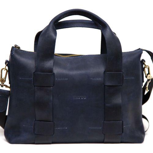 Мужской кожаный портфель MK22Kr600 синий