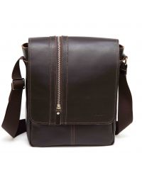Мужская кожаная сумка MK28Кaz400 коричневая