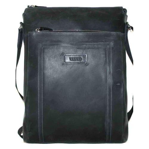 Мужская кожаная сумка Mк41Кr670 чёрная