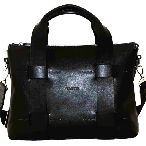 Мужской кожаный портфель Mk23Kaz1 чёрный