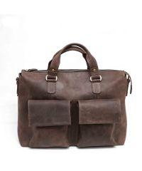 Мужской кожаный портфель MK25Kr450 коричневый
