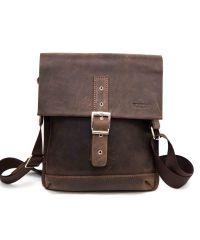Мужская кожаная сумка MK29Kr450 коричневая
