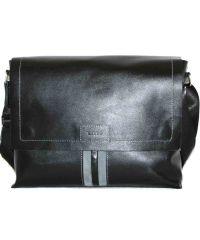Мужской кожаный портфель MK34Кaz1Z2 чёрный