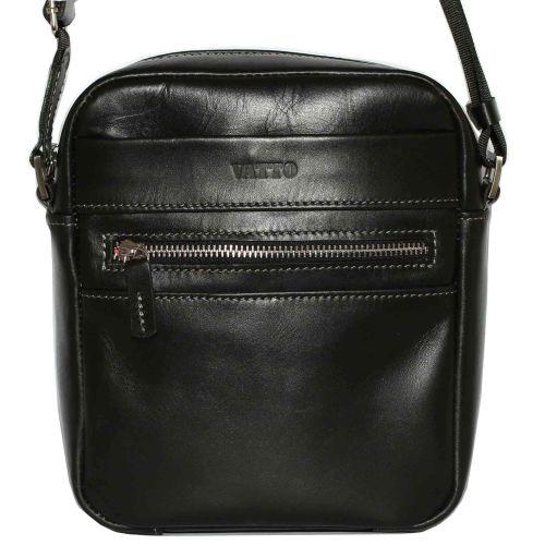 Мужская кожаная сумка Mк46Кaz1 чёрная