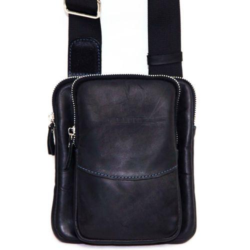 Мужская кожаная сумка MK12Кr670 чёрная