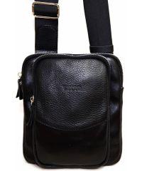 Мужская кожаная сумка Mk12SpFl1 чёрная