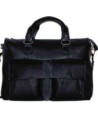 Мужской кожаный портфель MK25Kaz1 чёрный