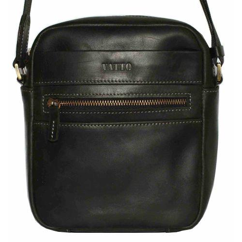 Мужская кожаная сумка Mк46Кr670 чёрная матовая