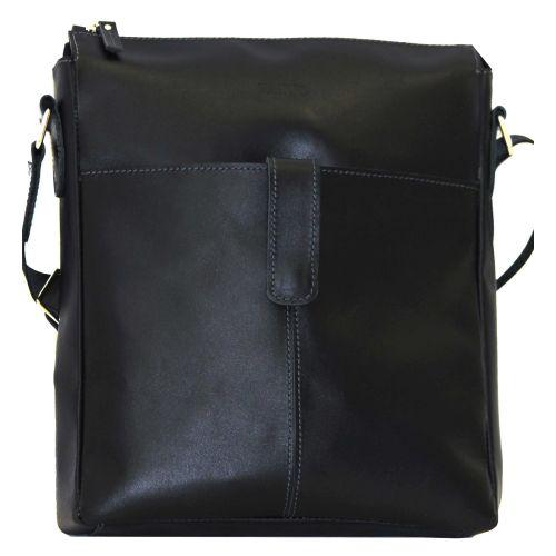 Мужская кожаная сумка Mk18Kaz1 чёрная