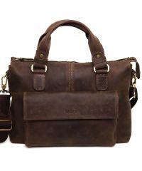 Мужской кожаный портфель MK20Кr450 коричневый