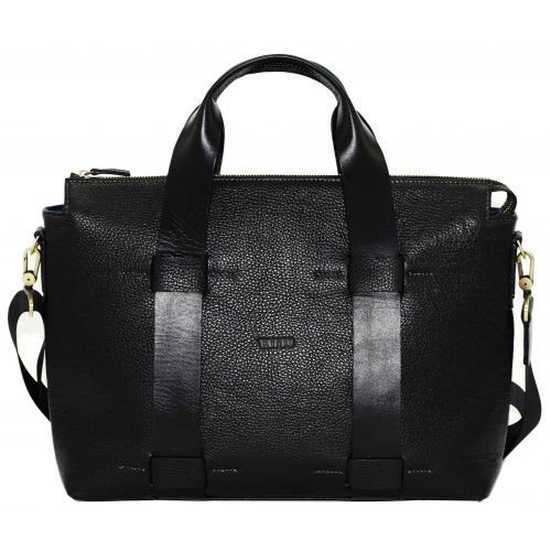 Мужской кожаный портфель Mk23Fl8Kaz1 чёрный
