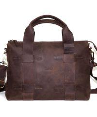 Мужской кожаный портфель MK23Kr450 коричневый