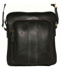 Мужская кожаная сумка Mk-48Kr670 чёрная