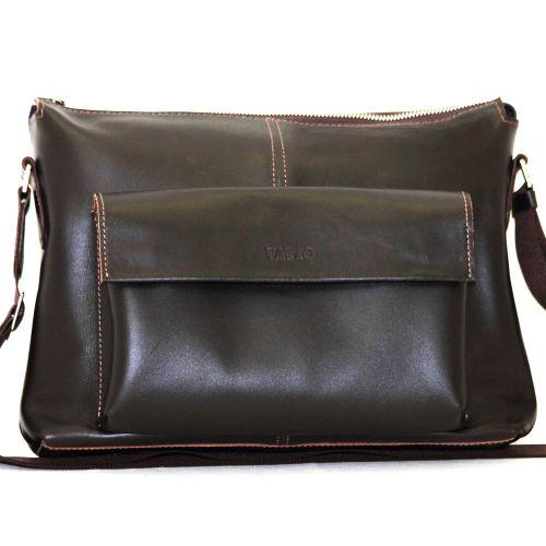 Мужской кожаный портфель MK20/1Kaz400 коричневый