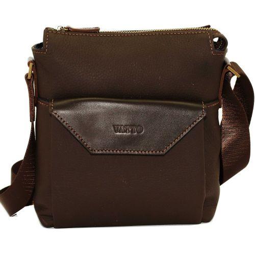 Мужская кожаная сумка Mk-41/1 FL7Kаz400 коричневая