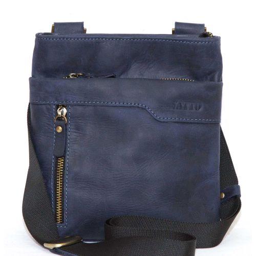 Мужская кожаная сумка Mk13Kr600 синяя