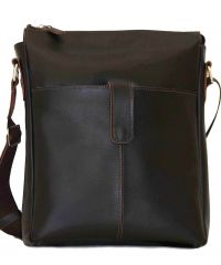 Мужская кожаная сумка Mk18Kaz400 коричневая