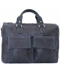 Мужской кожаный портфель MK25Kr600 синий